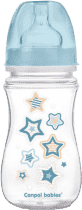 CANPOL Fľaša EasyStart Newborn baby 240ml 0% BPA - modré viečko