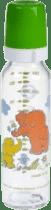 CANPOL Babies Fľaša sklo s potlačou 250 ml- zelená