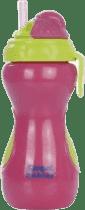 CANPOL Babies Fľaša športová so skladacou slámkou- ružová 320 ml