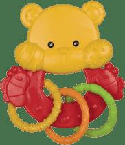 CANPOL Babies Chrastítko zvířátko s kroužky - méďa
