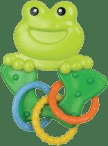 CANPOL Babies Hrkálka zvieratko s krúžkami - žaba