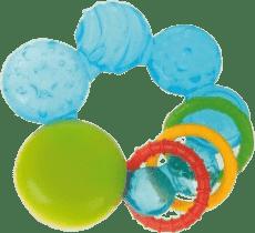 CANPOL Babies Chladiace hryzátko s kroužky- modrá