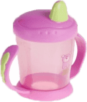 CANPOL Babies Nevylévací hrníček s úchyty- růžová 220 ml