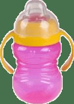 CANPOL Babies Hrnček snehuliak s úchyty- ružový 280 ml