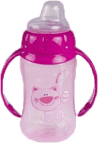 CANPOL Babies Tréningový hrnček s úchyty- ružová 320 ml