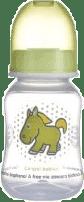 CANPOL Babies Láhev s potiskem TRANSPATENT 120 ml 0% BPA- zelená