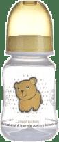 CANPOL Babies Láhev s potiskem TRANSPATENT 120 ml 0% BPA- žlutá