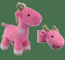 CANPOL Plyšová hracia skrinka + hrkálka na ruku žirafa
