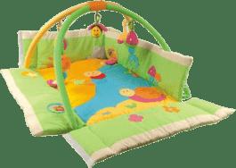 CANPOL Babies Hrací koberec s hrazdičkou MULTIFUNKČNÍ louka
