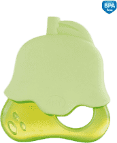 CANPOL Chladiace hryzátko ovocie v čiapočkách - zelená