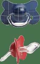 SUAVINEX Fusion dudlík anat.savička +12m 2 unit – modrý, červený