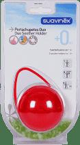 SUAVINEX Duo pudełko na smoczki – czerwone