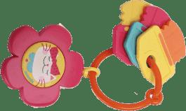 SUAVINEX Hryzátko hudobné kľúče - ružová