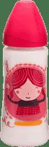 SUAVINEX Butelka szeroki otwór pp 360 ml lateksowy ustnik – dziewczynka