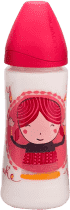 SUAVINEX Fľaša široké hrdlo pp 360 ml cumlík latex - dievča