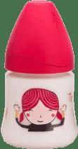 SUAVINEX Butelka z szerokim otworem pp 150 ml lateksowy ustnik dziewczynka
