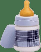 SUAVINEX Butelka z szerokim otworem pp 150 ml lateksowy ustnik kratka