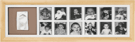 BABY ART Ramka 1st Year Print Frame Natural