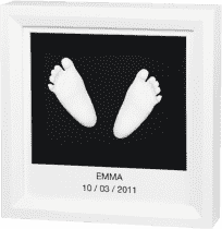 BABY ART Ramka na odcisk stópki lub rączki 3D Window Sculpture Frame White