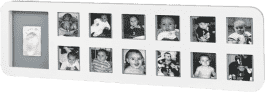 BABY ART Ramka 1st Year Print Frame White/ Grey