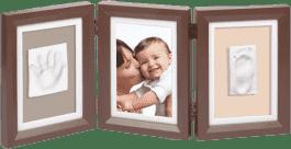 BABY ART Rámeček Double Print Frame Brown & Taupe / Beige