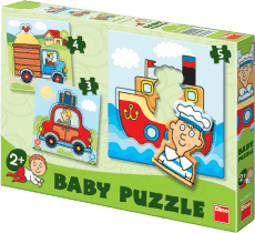 DINO Baby Puzzle Środki komunikacji