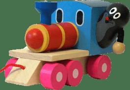 DETOA Krtek a mašinka/vlak – dřevo