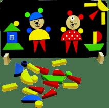 DETOA Magnetické puzzle Medvede