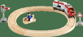 BRIO Vláčkodráha kruhová, osobní vlak, 15 dílů