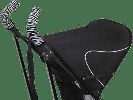 CITYGRIPS Osłonki na rączki wózka. Zebra - podwójna rączka