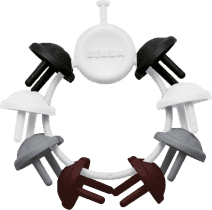 BEABA Zabezpieczenie gniazdek elektrycznych 8 sztuk, ciemne kolory