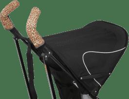 CITYGRIPS Osłonki na rączki wózka. Leopard - podwójna rączka
