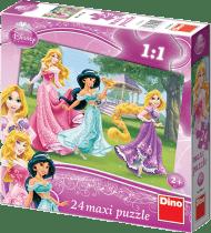 DINO Puzzle Planszowe Floor Księżniczki 24szt