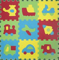 LUDI Puzzle penové 84x84 cm - dopravné prostriedky