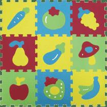 LUDI Puzzle pěnové 84x84 cm – ovoce a zelenina