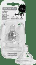 SUAVINEX Okrągły smoczek szeroki otwór/na kaszkę 2 szt. silikon