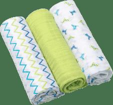 BABY ONO Pieluszki muślinowe Super soft, 3 szt. - zielone