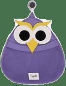 3 SPROUTS Kosz na zabawki i przybory kąpielowe Owl