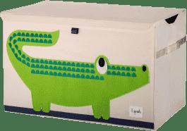 3 SPROUTS Uzavíratelná bedýnka na hračky Crocodile
