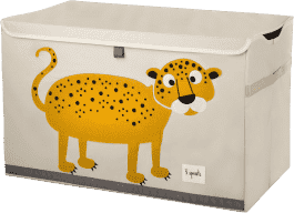 3 SPROUTS Uzatvárateľná debnička na hračky Leopard