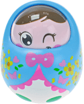 BABY'S HAPPINESS Lalka Rolly Polly – niebieska