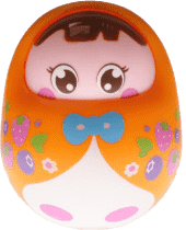 BABY'S HAPPINESS Bábika Rolly Polly – oranžová