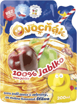 OVOCŇÁK Mušt jablko 100% 200ml - ovocná šťava