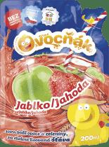 OVOCŇÁK Mušt jablko-jahoda 200ml - ovocná šťava