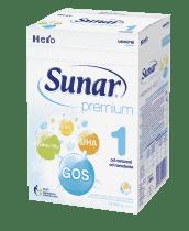 SUNAR Premium 1 (600 g) - dojčenské mlieko