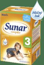 SUNAR Complex 3 VANILKA (600g) NOVÝ – kojenecké mléko