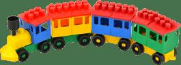 LORI Zestaw klocków LORI 14 Pociąg + 5 wagonów – plastik