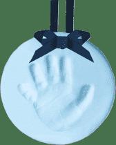 PEARHEAD Otisk nožičky závěsná ozdoba modrý