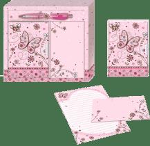 BINO Darčeková sada pre písanie listov – motýľ