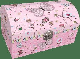 BINO Zestaw prezentowy ze szkatułką i lusterkiem – motyl
